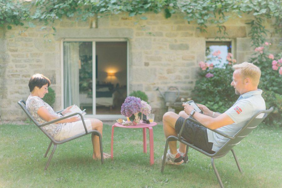 La Ferme de Kerscuntec- chambre Molène – Jardin