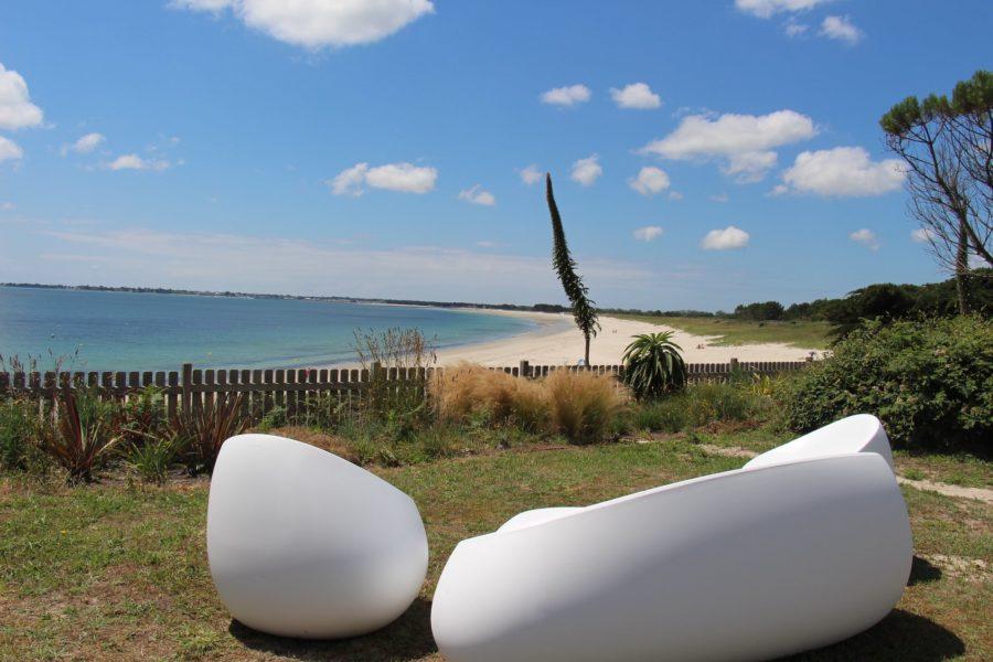Maison de la plage – pause au jardin