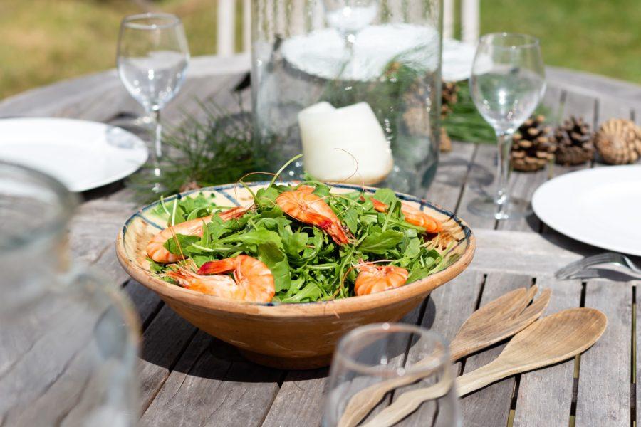 les hauts de kergaire diner au jardin