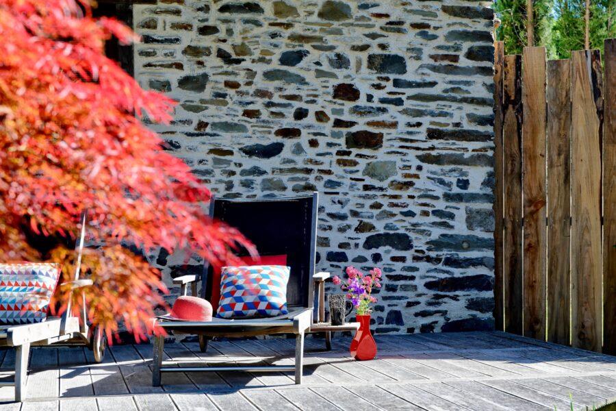 Des terrasses, des bains de soleil, des coins repas champêtres…